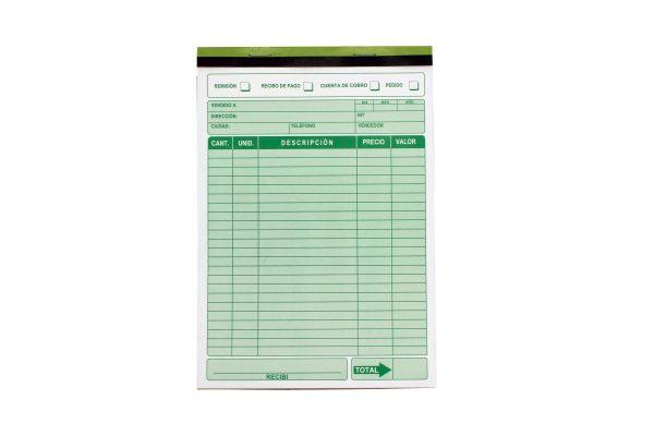 Cuenta de cobro autocopiante distribuidores de papeleria al por mayor