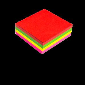 taco de notas coloridas