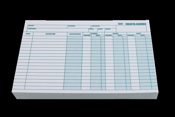 Tarjeta kardex distribuidores de papeleria al por mayor